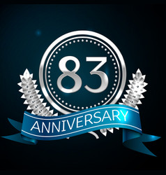 eighty three years anniversary celebration design vector image