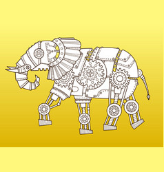 Elephant robot color fashion vector