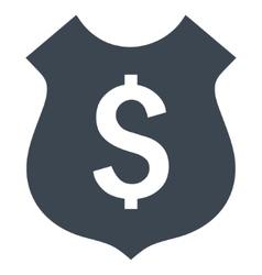 Financial Shield Flat Icon vector