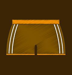 Flat shading style icon athletic shorts vector