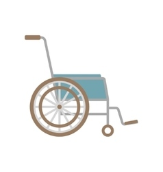 Flat wheelchair icon vector