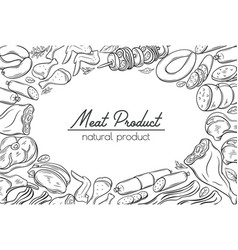 gastronomic meat products sketches vector image