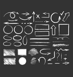 hand drawn chalk vector image