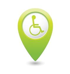 Handicap symbol on green marker vector