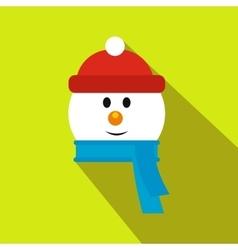 Head of snowman flat icon vector