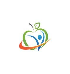 healthy apple design icon vector image