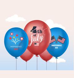 holiday balloons 4th july national vector image