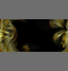 holiday golden glittering halftone vector image