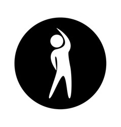 human figure doing exercise vector image