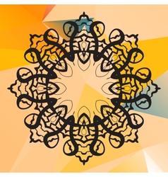 India mandala Geometric circle element vector image