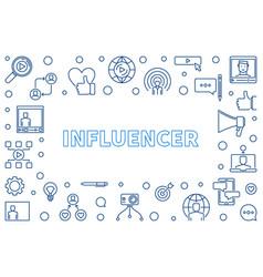 influencer outline vector image