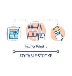 interior painting concept icon handyman service vector image