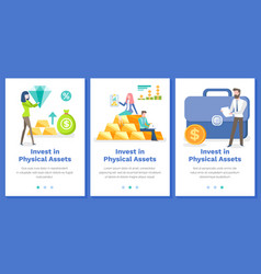 Investing in physical assets concept set vector