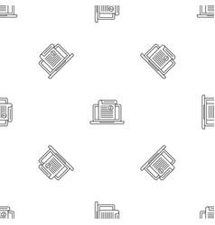 laptop sheet printing pattern seamless vector image