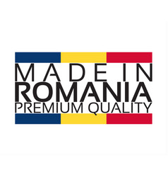 Made in romania icon premium quality sticker with vector
