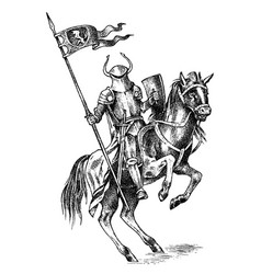 medieval armed knight historical ancient military vector image