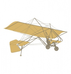 microlight glider vector image