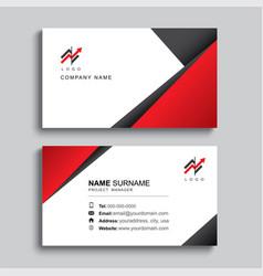Minimal business card print template design black vector