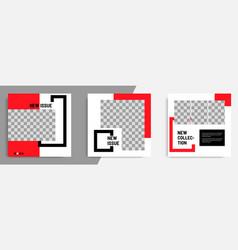 minimal design background in black red white vector image