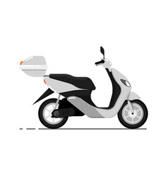 modern scooter isolated on white icon vector image