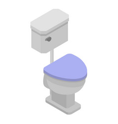 modern toilet icon isometric style vector image