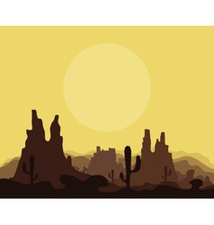 Mountains in the desert vector
