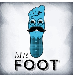 Mr Foot vector image