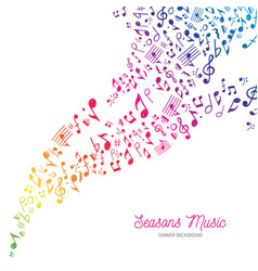 music background in rainbow summer colors vector image