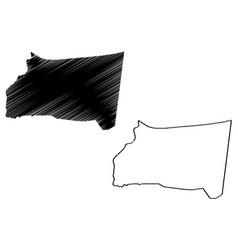 najran region map vector image