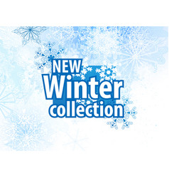 New winter collections advertising design vector