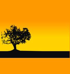 Oak tree wallpaper vector