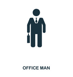 office man icon line style icon design ui vector image