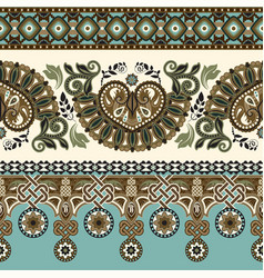 ornamental seamless pattern ethnic vector image