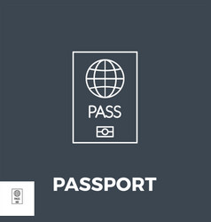 passport related line icon vector image
