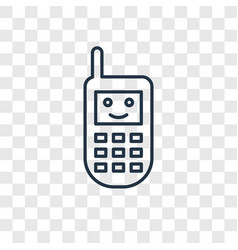 phone toy concept linear icon isolated on vector image