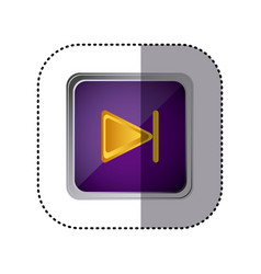 purple emblem forward button vector image