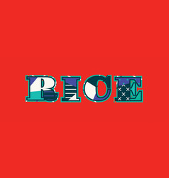 Rice concept word art vector