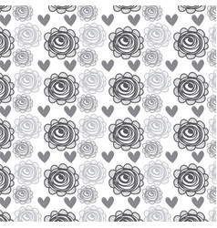 Rustic roses and hearts background icon vector