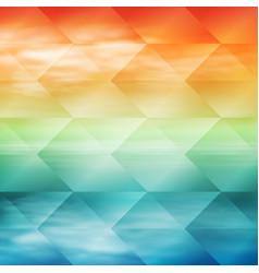Sea sunset tropical geometric background vector