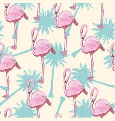 seamless flamingo pattern vector image