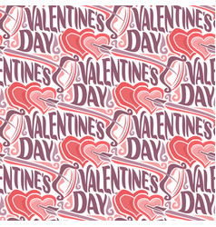 seamless pattern for happy valentines day vector image