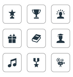 set of simple achievement vector image vector image