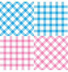 set plaid seamless patterns vector image