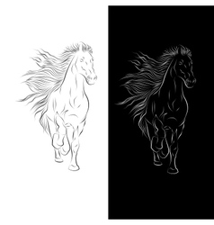 Silhouette of Horse in vector image