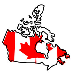 Simplified map of canada outline with slightly vector