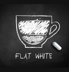 Sketch of flat white coffee vector