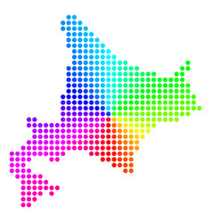 Spectrum sphere dot hokkaido island map vector