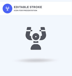 steering icon filled flat sign solid vector image