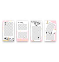 trendy editable set templates for social media vector image