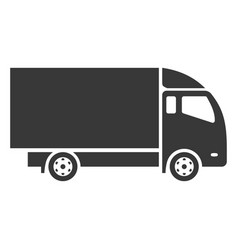 truck black icon strong heavy vehicle vector image